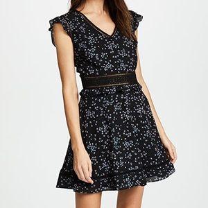NWT cupcakes & cashmere Elm Ruffle Mini Dress 6